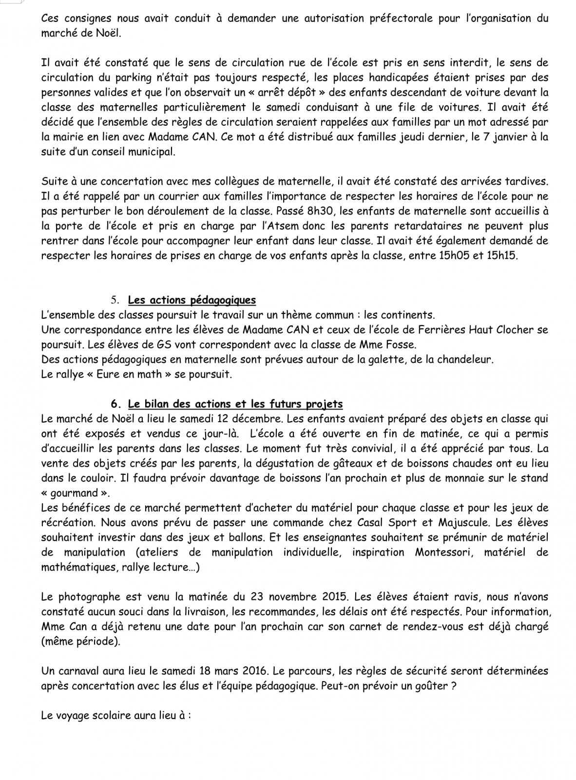 PV Conseil d'école 16 Janvier 2016 Page 5