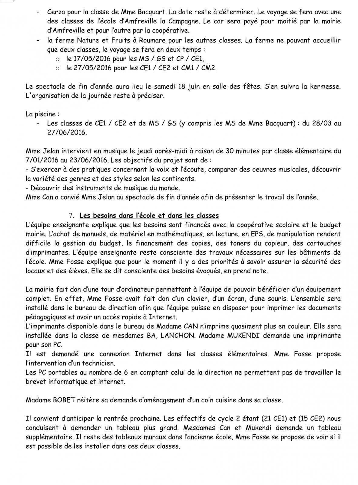 PV Conseil d'école 16 Janvier 2016 Page 6