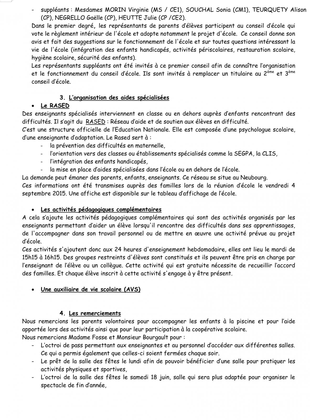 PV Conseil d'école 16 Novembre 2015 Page 2