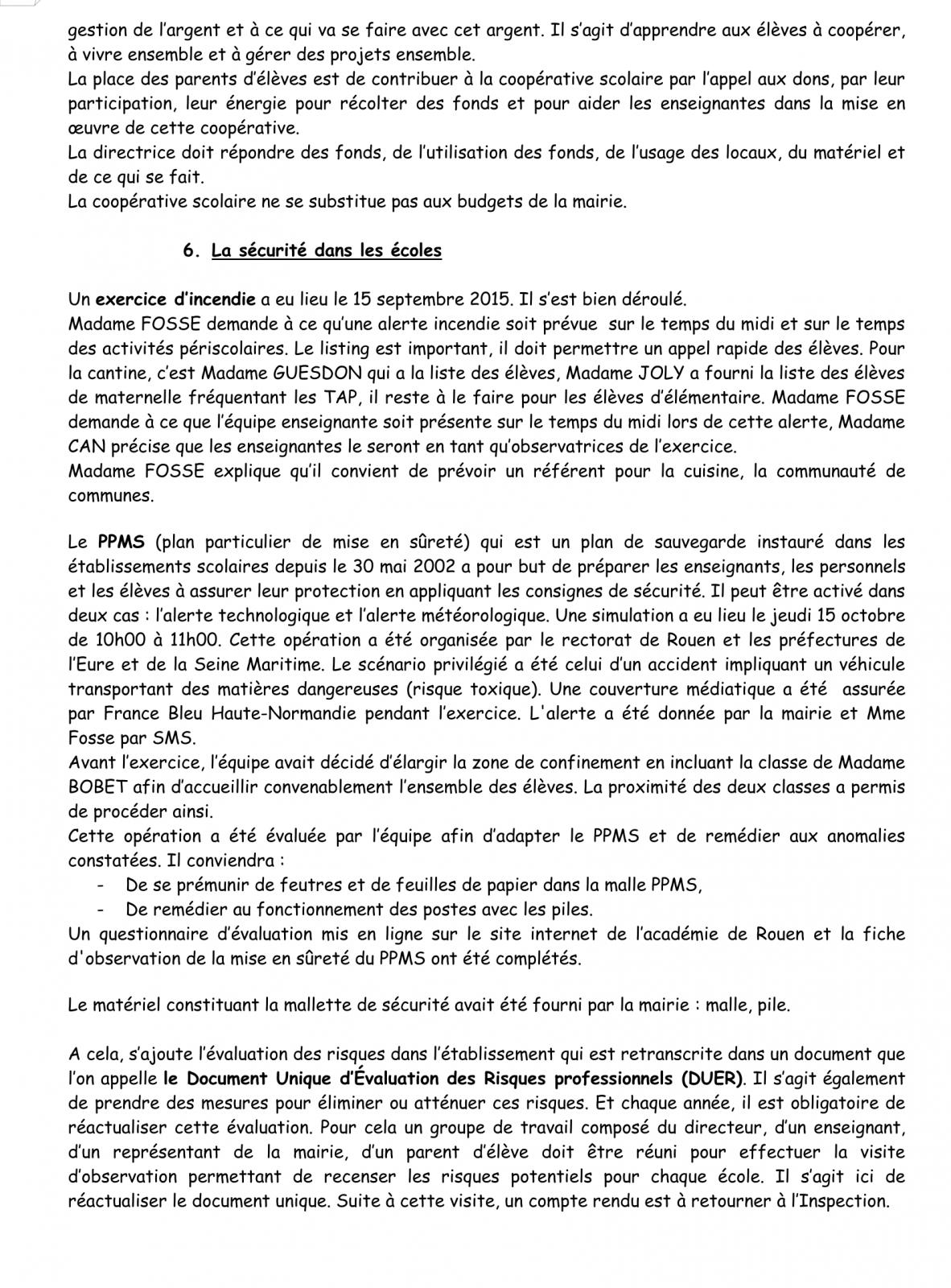 PV Conseil d'école 16 Novembre 2015 Page 4