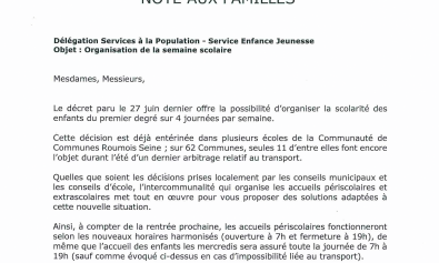 Note aux familles organisation semaine scolaire-1