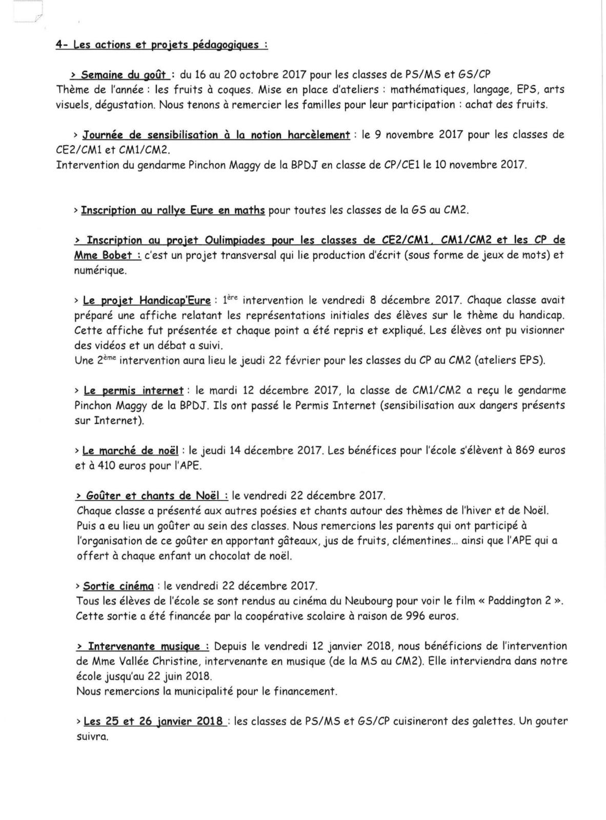 CONSEIL D ECOLE DE TOUVILLE LA CAMPAGNE 23 JANVIER-3